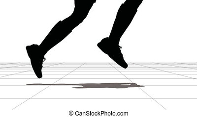 feet, sportsman., wyścigi, czarnoskóry, white.