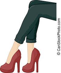 Feet wearing Stiletto