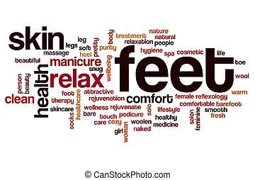 Feet word cloud concept