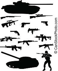 fegyver, katona