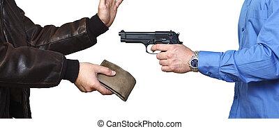 fegyveres rablótámadás