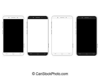fehér, állhatatos, fekete, smartphones