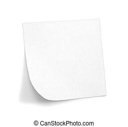 fehér, árnyék, jegyzet, nyúlós