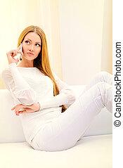 fehér, öltözet