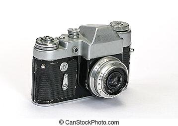 fehér, öreg, cameras, fénykép