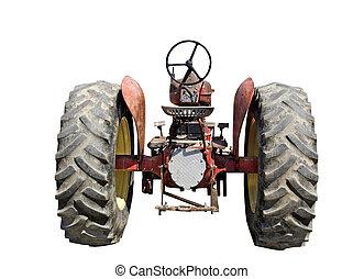 fehér, öreg, traktor, háttér