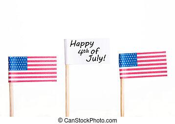 fehér, 4, transzparens, július, boldog