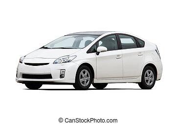 fehér, autó