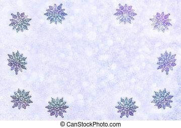 fehér, bolyhos, hópihe, képben látható, snow., tél, karácsony, háttér.