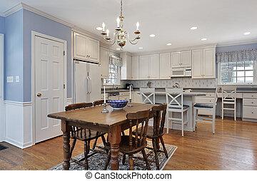 fehér, cabinetry, konyha