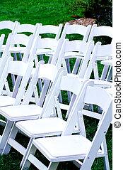 fehér, chairs.