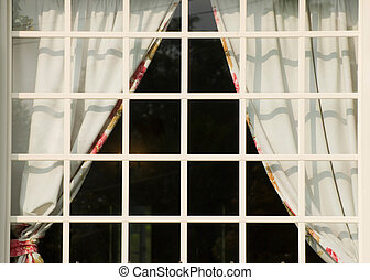 fehér, derékszögben, ablak