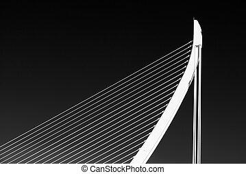 fehér, elvont, bridzs, szerkezet, képben látható, ég