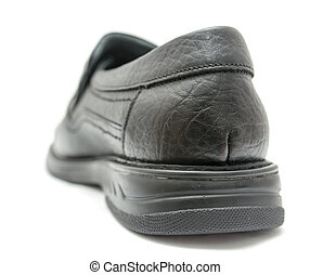 fehér, fekete, cipők, háttér