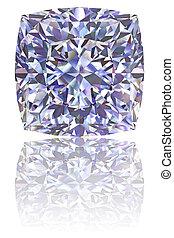 fehér, gyémánt, derékszögben, sima, alakú
