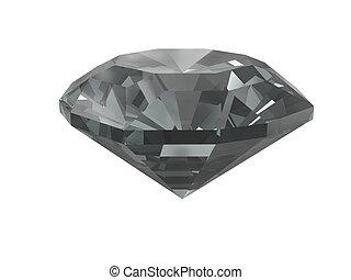 fehér, gyémánt, fekete, elszigetelt