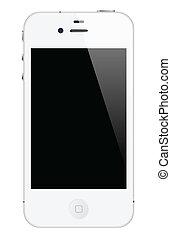 fehér, iphone, 4
