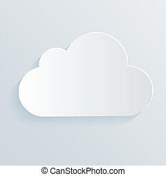 fehér, jelkép., felhő, ikon