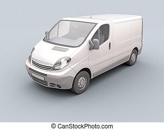 fehér, kereskedelmi, furgon
