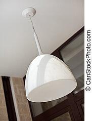 fehér, modern, lámpaernyő