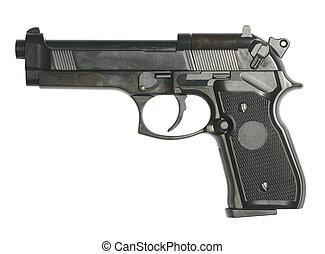 fehér, pisztoly, elszigetelt