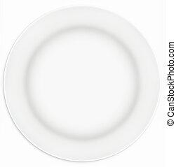 fehér, szendvics, tányér