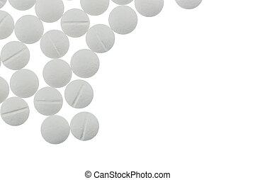 fehér, tabletta