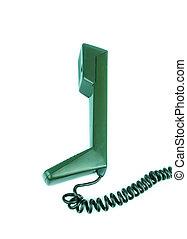 fehér, telefon, háttér, telefonkagyló