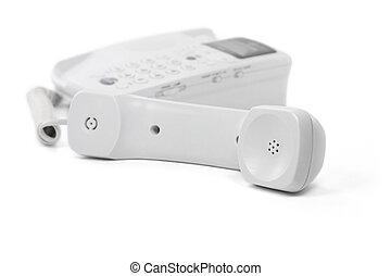 fehér, telefon