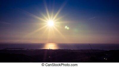 FEHLER, aus, Sonnenuntergang, Zeit,  tarifa, Spanien