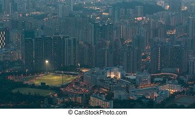 Fei ngo shan Kowloon Peak day to night timelapse Hong Kong...