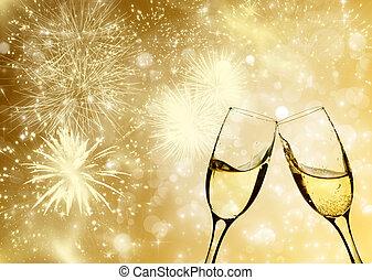 feiern, champagner