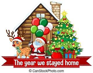 feiern, covid, während, weihnachten