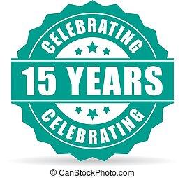 feiern, jahre, 15, jubiläum, ikone
