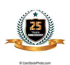 feiern, jahre, jubiläum, 25