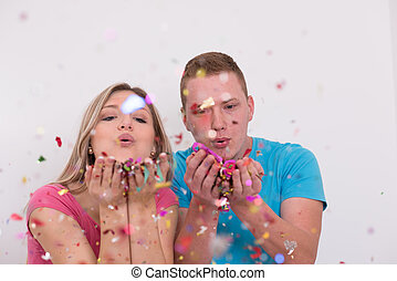 feiern, paar, romantische