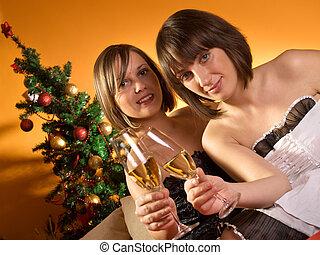 feiern von weihnachten