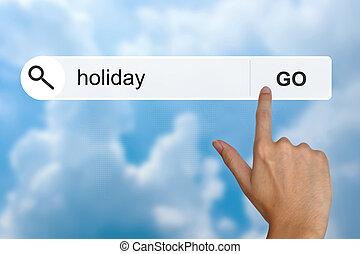 feiertag, auf, durchsuchung, toolbar