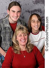 feiertag, familie portrait
