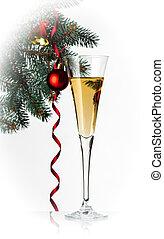feiertag, flöte, champagner