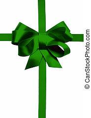 feiertag, grün, schleife