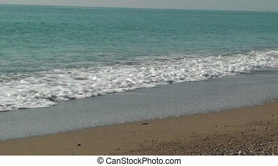 feiertag, hintergrund., meer, tide., schäumend, wellen