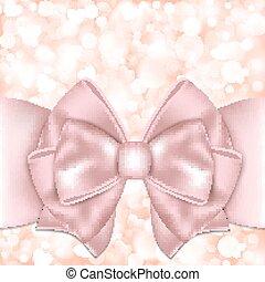 feiertag, hintergrund, mit, rosa, schleife