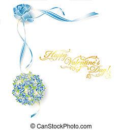 feiertag, rahmen, mit, blumengebinde