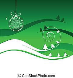 feiertag, winter, karte, weihnachten