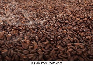 feijões brancos, coffe, fundo