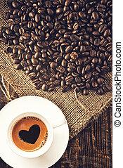feijões café, e, chícaras
