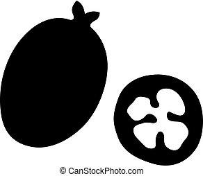 Feijoa, sweet aromatic fruit