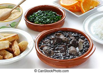 feijoada, brazilian cuisine - black beans and meat stew