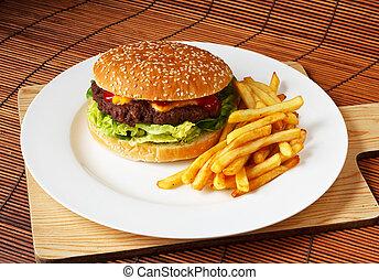 feinschmecker, handgearbeitet, cheeseburger
